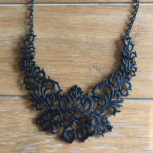 Filigree Black Necklace.